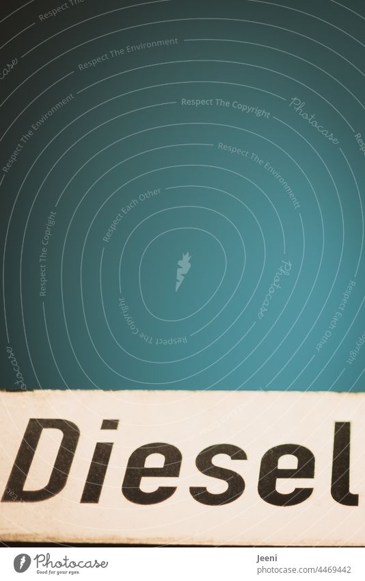 Diesel as a discontinued model - under a beautiful blue sky diesel engine price Price development high-priced Gasoline Petrol station Refuel Industry Engines