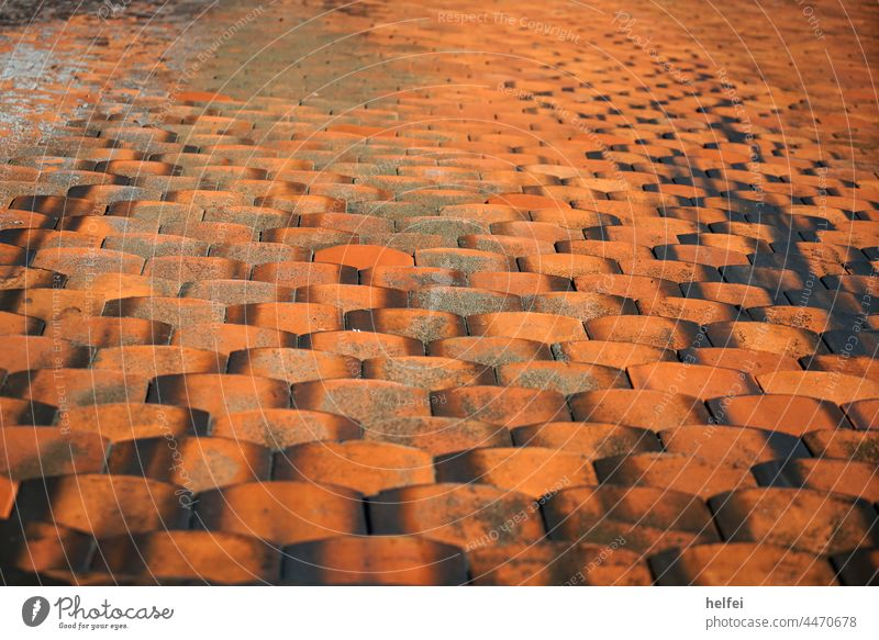 Roof tile, Bieberschwanz red, laid on steep roof Roofing tile Bieber's Tail Red Old roof tiles Structures and shapes Exterior shot House (Residential Structure)