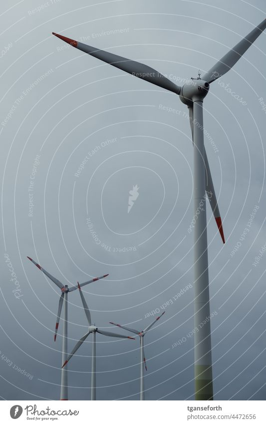 windmills wind power wind turbine Wind energy plant Pinwheel Eco-friendly Renewable energy Environmental protection Energy industry Electricity Ecological Sky