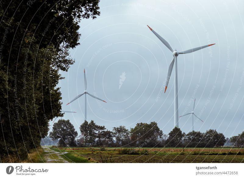 Wind turbines wind turbine wind power Pinwheel Wind energy plant Eco-friendly Renewable energy Environmental protection Energy industry Electricity Sky
