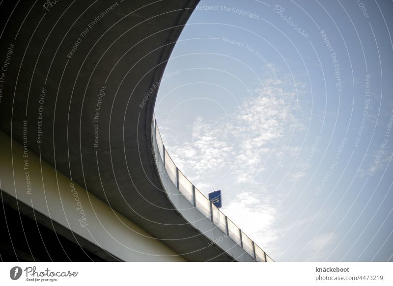 driveable Concrete Bridge Street Transport Architecture Manmade structures Town Traffic infrastructure Overpass Exterior shot Road traffic Shadow Colour photo