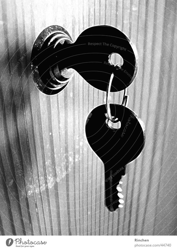bunch of keys Key Hang Light Living or residing Black & white photo Shadow