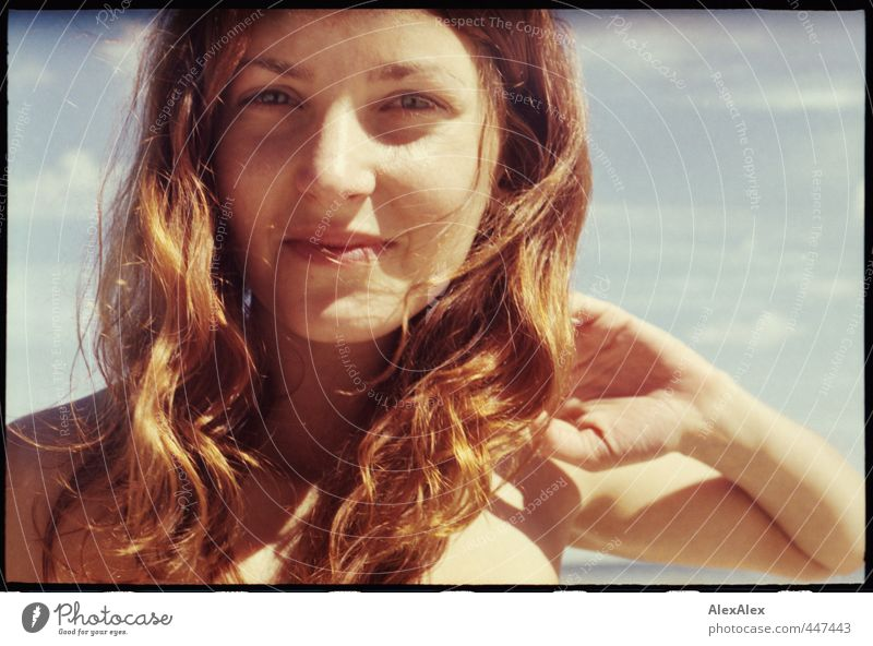 Portrait of Mrs Sommer during her semester break Joy Happy Vacation & Travel Trip Summer Summer vacation Sunbathing Young woman Youth (Young adults) Head