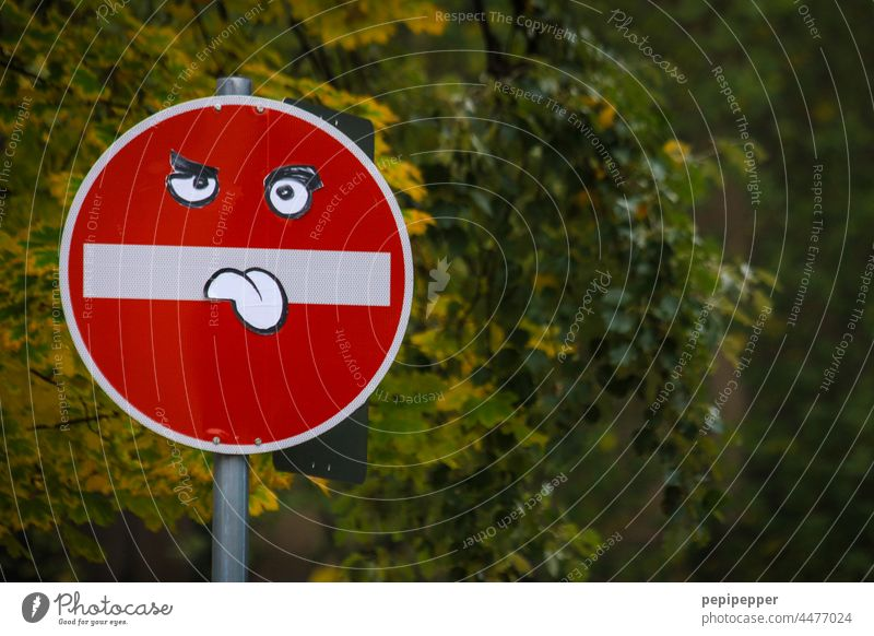 Traffic sign, with tongue out Road sign Traffic signs Traffic sign 136 Traffic sign 101 Traffic sign 250 Signs and labeling Road traffic Transport Signage