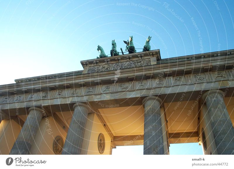 Sky Lamp Berlin Gate Historic Reunification Brandenburg Gate