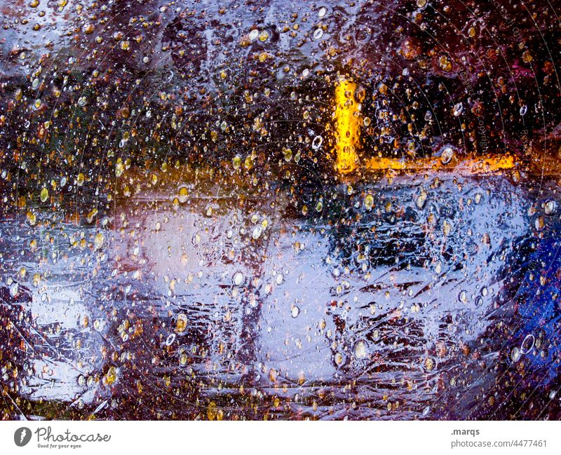 reflection Reflection Dark Metal Abstract Colour Structures and shapes Close-up Background picture Exceptional