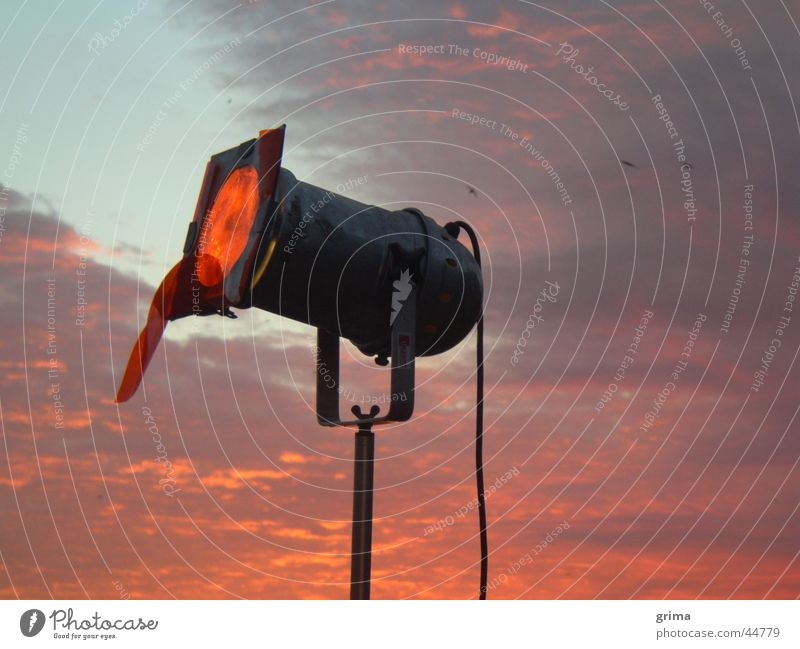 First light in the morning Sunrise Clouds Lamp Moody Red Light Craft (trade) Sky Floodlight Morning