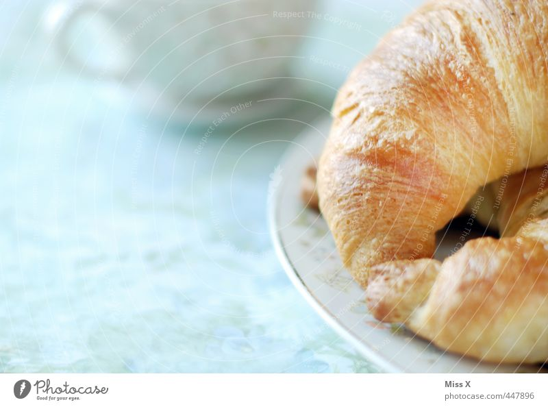 breakfast Food Croissant Nutrition Breakfast To have a coffee Buffet Brunch Beverage Cup Delicious Sweet Breakfast table Meal Café Bakery Edge of a plate