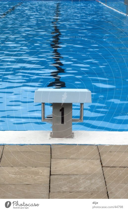 Water Blue Summer Sports Cold 1 Waves Railroad Swimming pool Starting block (track and field)