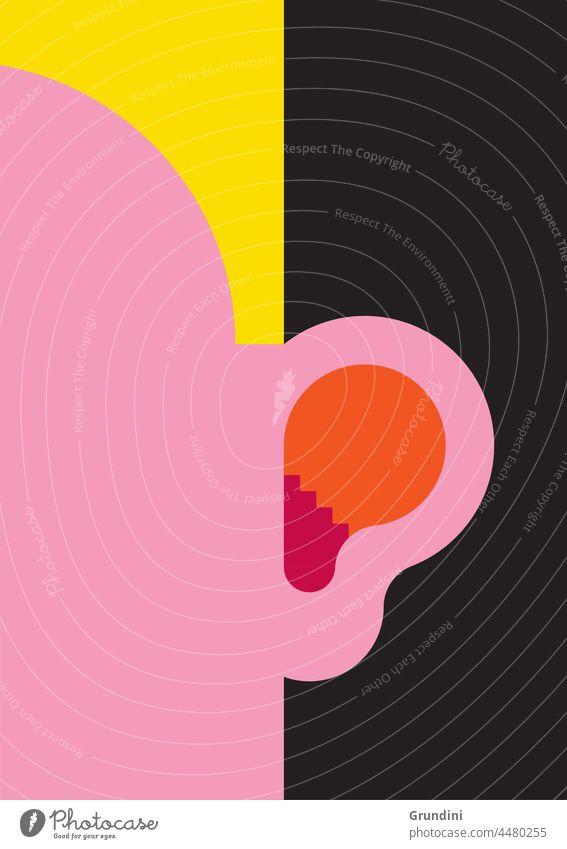 Hearing better Illustration Lifestyle Ear Steps Face