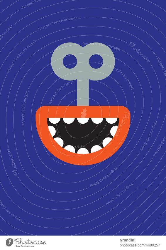 Fake smile 2 Illustration Lifestyle Face Snake Smile Mouth clockwork