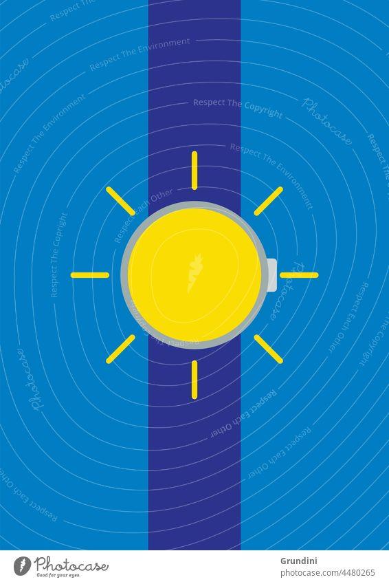 Sun watch Illustration Lifestyle Watch Clock
