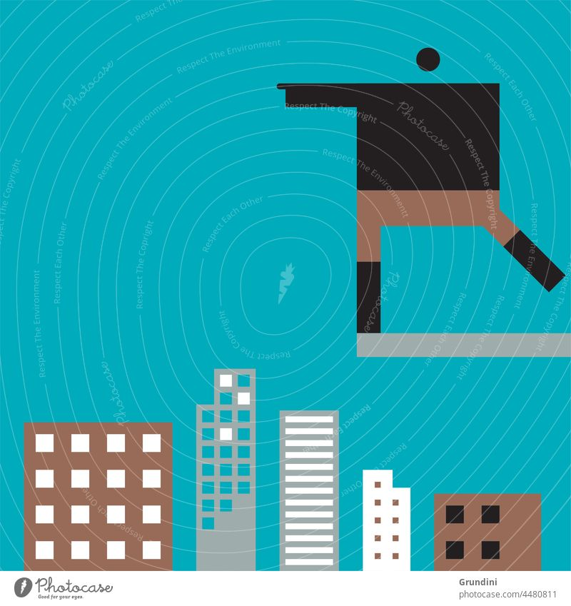 Take the plunge Work Illustration Office Characters Leadership Buildings