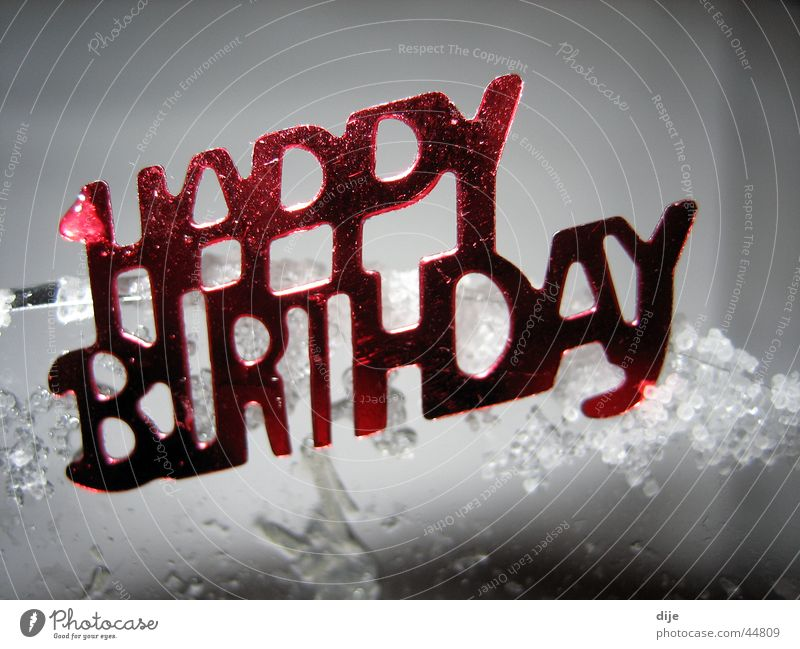 - HAPPY BIRTHDAY Red Salutation Good happy birthday Characters Feasts & Celebrations Old All