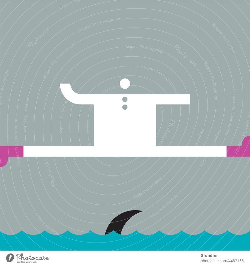 Shark! Work Illustration Office Characters Leadership winner winning