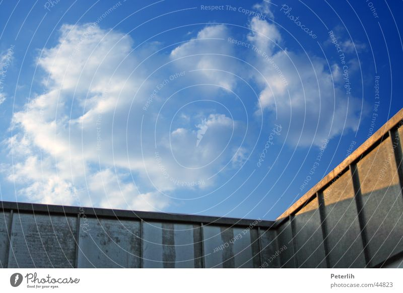 The angle Roof Corner Summer Calm Architecture Sky Blue
