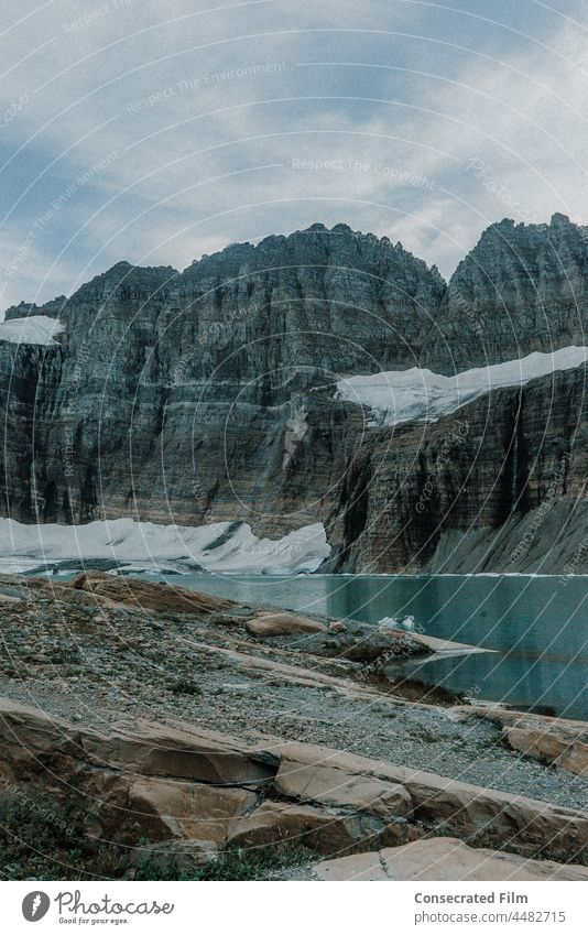 Grinnell glacier in the mountains of glacier national park Glacier mountain glacier views travel adventure Landscape Nature Mountain Vacation & Travel Hiking