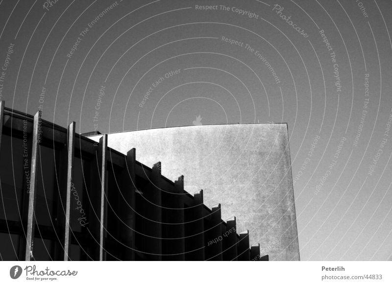 White Black Architecture Concrete Round Theatre Münster