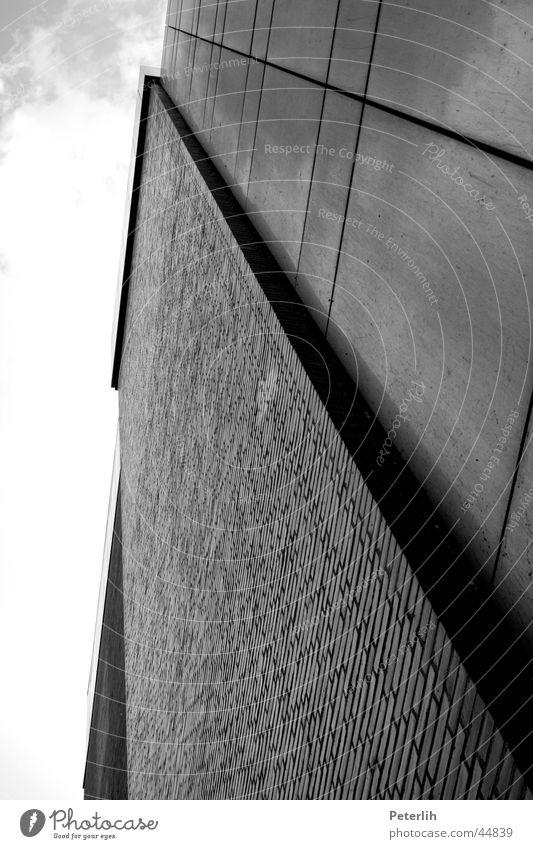 Right vertical Black White Facade Glittering Architecture Modern