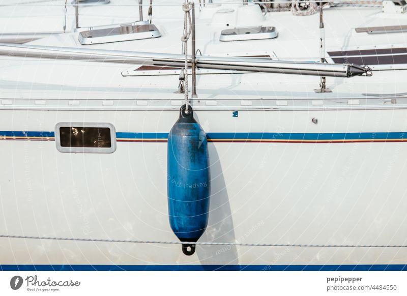 blue plunger - cylindrical polyform wing for boats - rubber fender Fender Navigation Blue Rubber fender Watercraft Exterior shot Sailboat Vacation & Travel