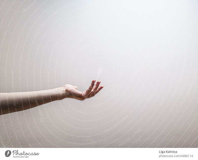 Hand reached out Fingers Human being Arm body part Palm of the hand Conceptual design Gesture Symbols and metaphors Minimalistic Body background