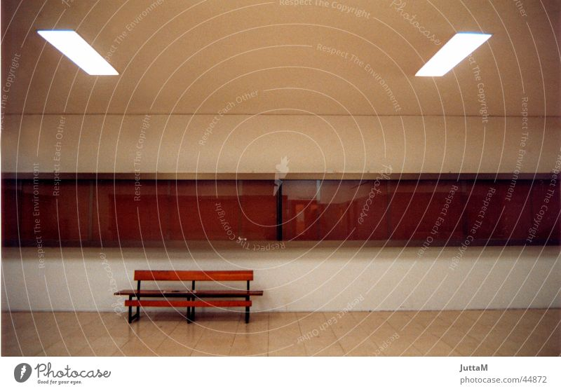 No title Room Empty Perspective Calm Brown Bench Architecture Cool (slang) warm