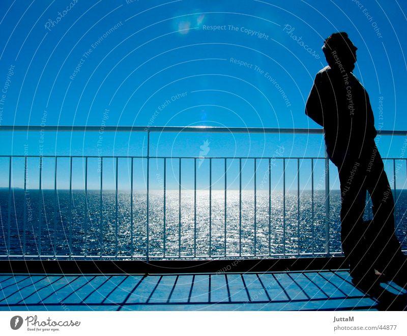 Sky Sun Ocean Horizon Navigation Handrail Ferry