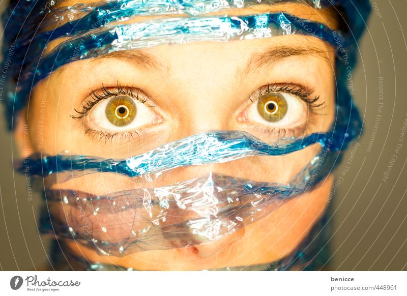 social blue Woman Human being Portrait photograph facebook social media twitter Captured Data protection Liberate Liberation String Rope Close-up Blue Network