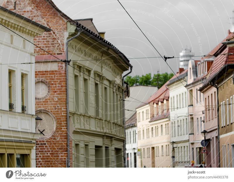 street of houses in the old town Brandenburg an der Havel Old town Downtown Architecture Facade Housefront Town house (City: Block of flats)