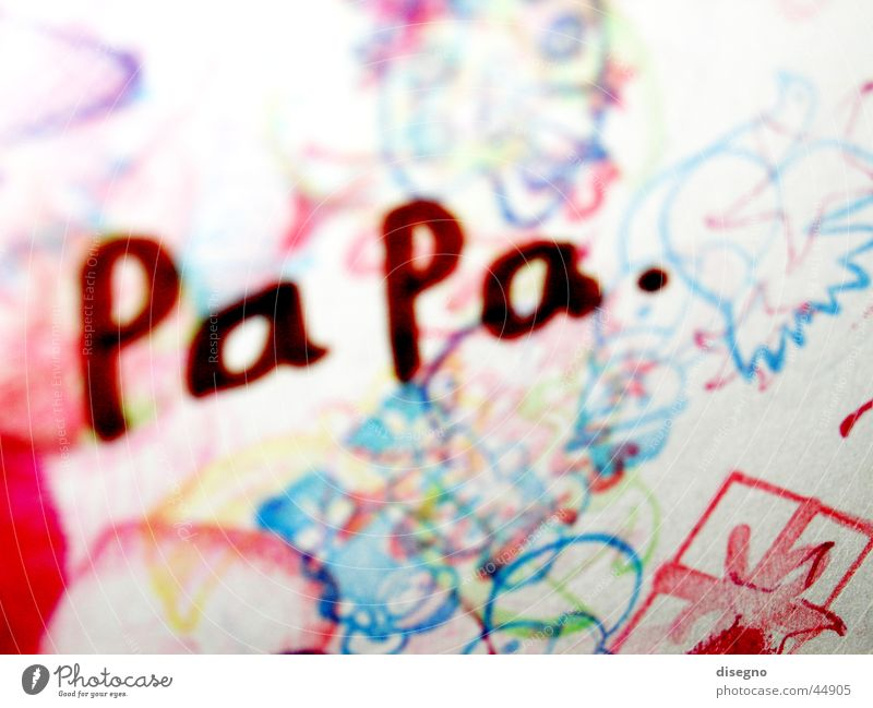 Family & Relations Leisure and hobbies Painting and drawing (object) Father Pistil Drawing Father's Day Children's drawing