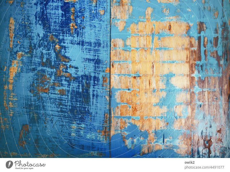 Superficial Tabletop Wood Friction Abrasion uncovered Colour textured Vintage Detail Pattern Rustic blue lacquered blue table background Turquoise Blue
