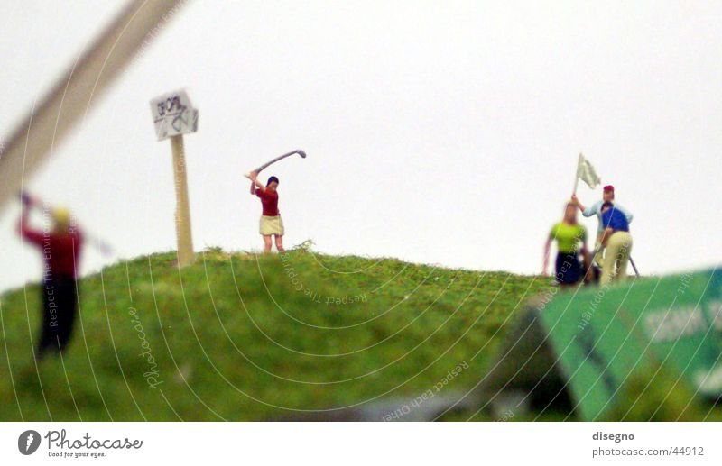 Sports Lawn Golf Golf course Miniature Model-making Golfer