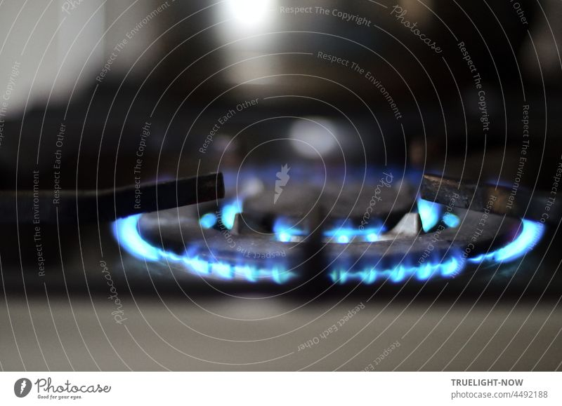 They are still burning happily on the stove: the gas flames from two superimposed burner heads for larger pots or pans. But gas is supposed to become expensive now.