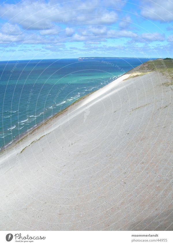 dune Ocean Peninsula Michigan Clouds Far-off places Beach dune Water Sand Island Coast