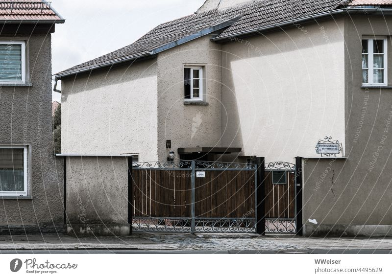 There is a holiday apartment for rent in this particularly dreary corner of an East German small town holidays Vacation home unattractive Gloomy Gray boringly