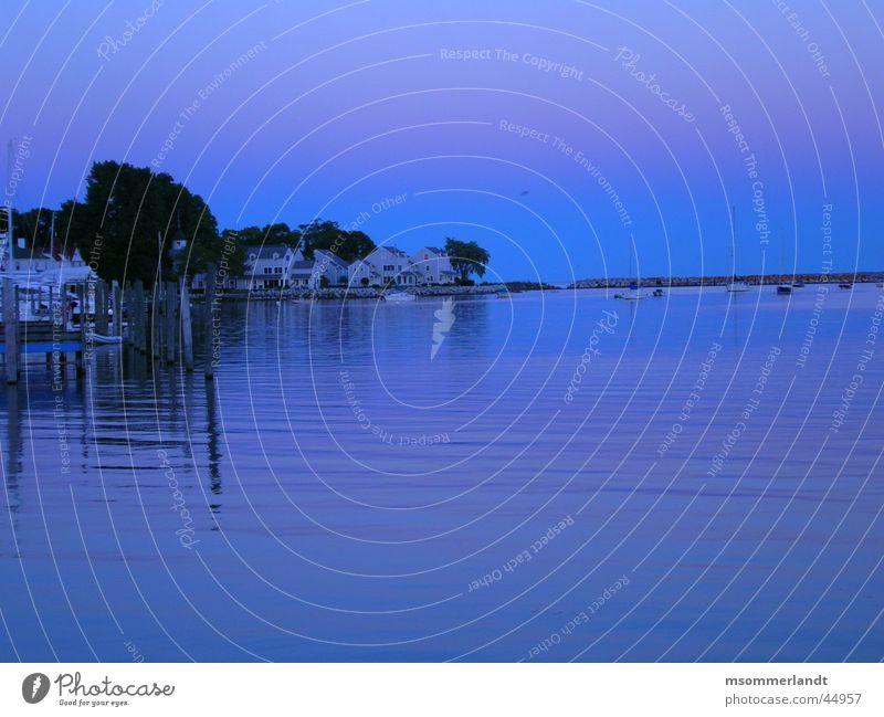 morning mood Lake Morning Ocean Michigan Peninsula de Zapata Footbridge Watercraft Dawn Bay Harbour Mackinac