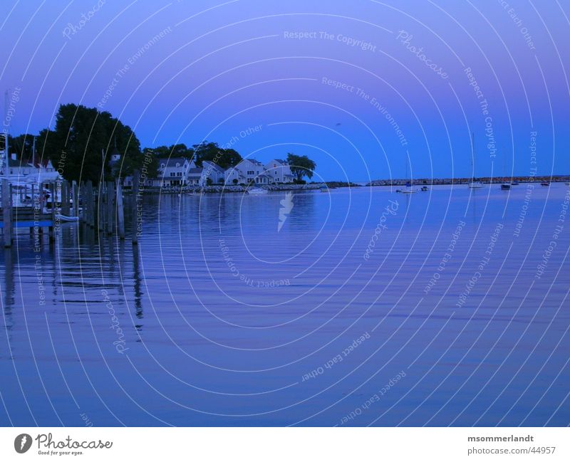 Ocean Lake Watercraft Harbour Bay Footbridge Peninsula Michigan Peninsula de Zapata