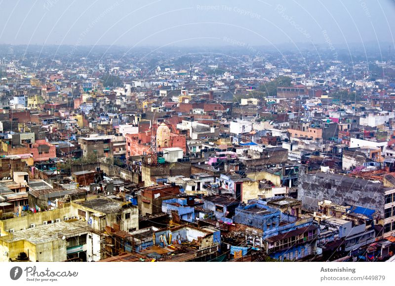 DELHI - as far as the eye can see Landscape Sky Horizon Fog Delhi India Asia Town Capital city Downtown Populated Overpopulated House (Residential Structure)