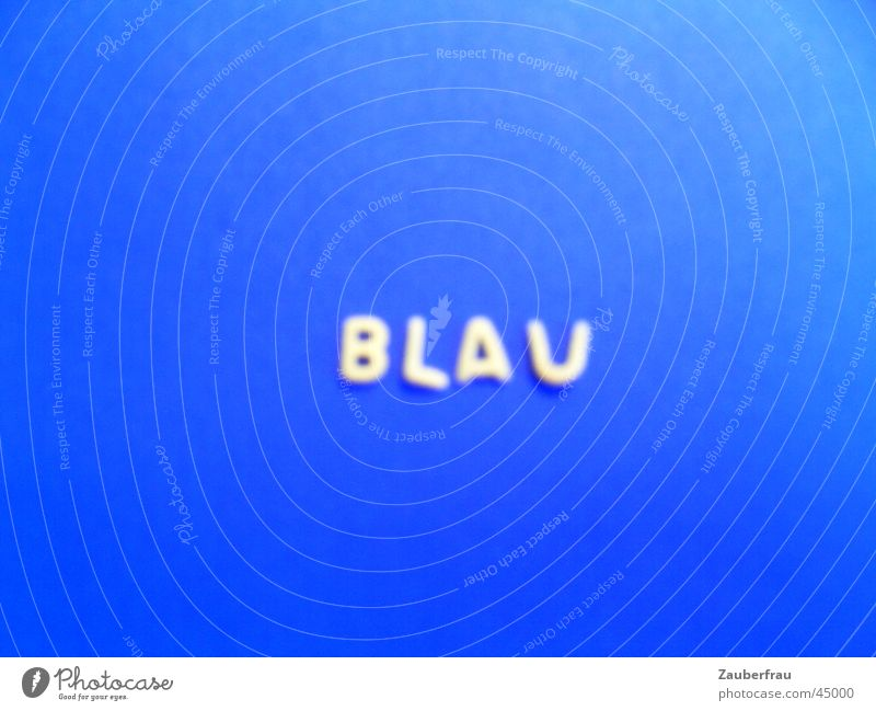 Blue, blue at blueest! Colored paper Home-made Noodles Letters (alphabet) Joy laid