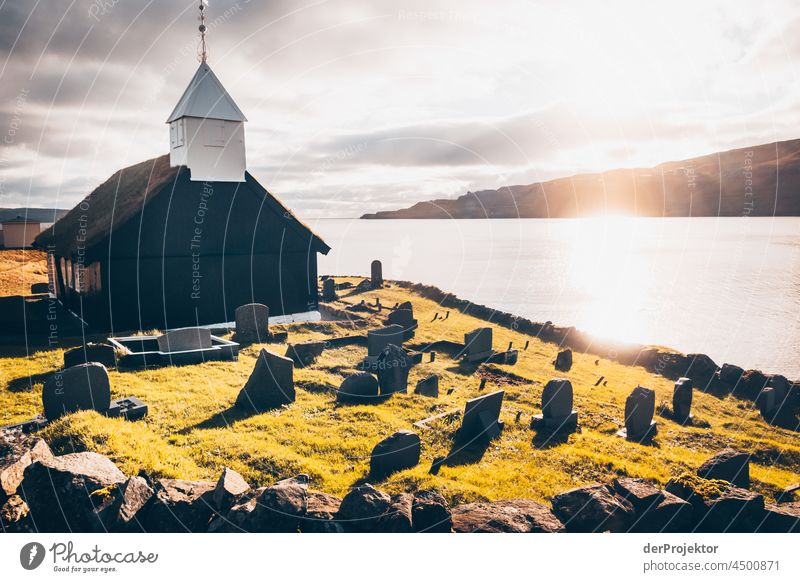 Historic church in the Faroe Islands traditionally Outdoors spectacular rocky naturally harmony Weather Rock Hill Environment Rural highlands Picturesque