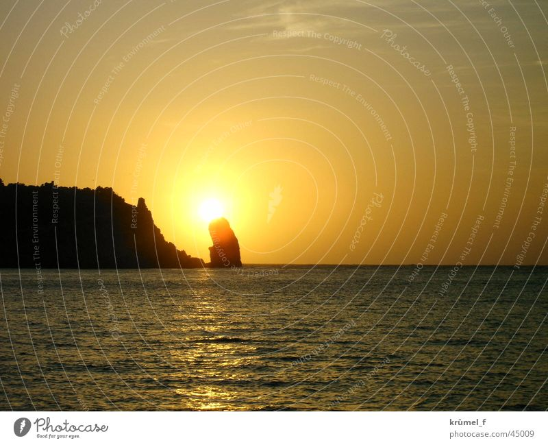 A piece of freedom Sunset Ocean Longing Calm Vacation & Travel Far-off places Europe Rock Evening