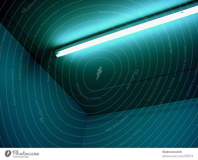 Blue Lamp Cold Room Architecture Corner Blanket Fluorescent Lights