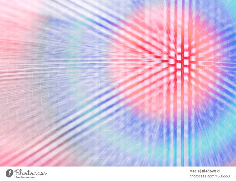 Abstract motion blurred zoomed futuristic background. abstract modern design wallpaper technology light space image speed pattern line bright shape glow color
