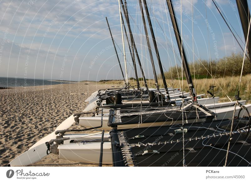 Water Ocean Beach Vacation & Travel Clouds Sand Watercraft Europe To go for a walk Sailing Sailboat Sylt Hissing