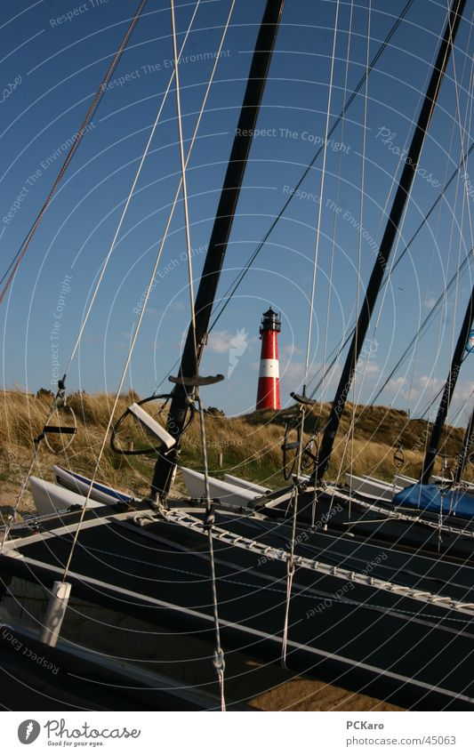 Sky Ocean Vacation & Travel Meadow Grass Watercraft Europe Sailing Beach dune Lighthouse Sylt