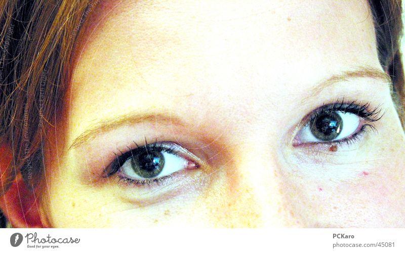 eye smiles Woman Girl Laughter Eyes Face Partially visible Head