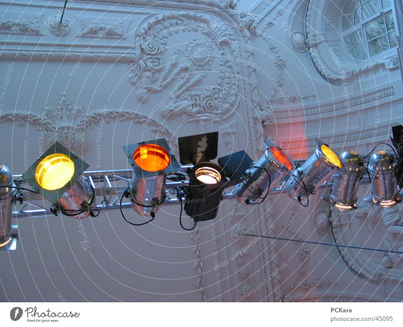 Colour Architecture Shows Concert Event Stage lighting Floodlight Stucco ceiling