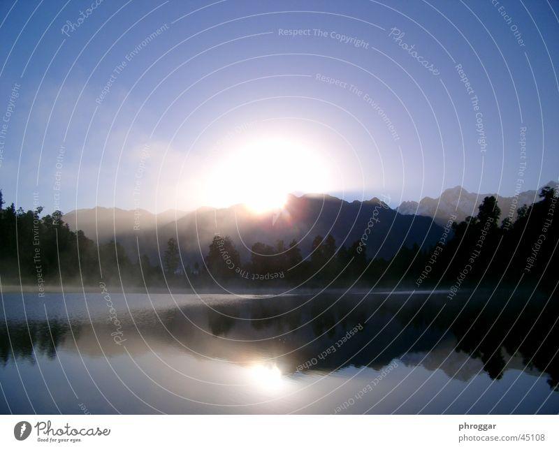 Lake Matheson Fog Reflection Calm Sunrise Morning
