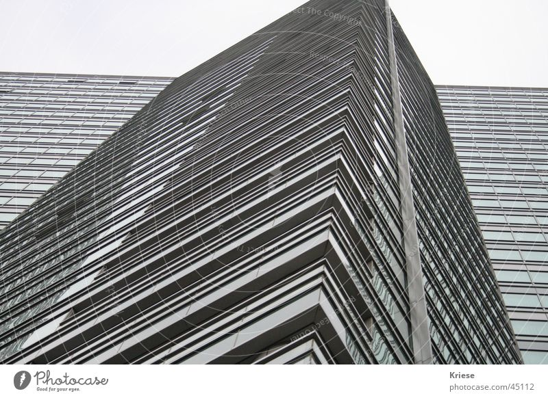 Gray Line Architecture High-rise Might Simple Minimalistic Gigantic