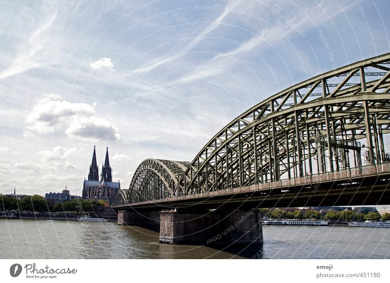 cologne Sky Town Capital city Downtown Old town Skyline Dome Bridge Manmade structures Tourist Attraction Landmark Cologne Cologne Cathedral Colour photo